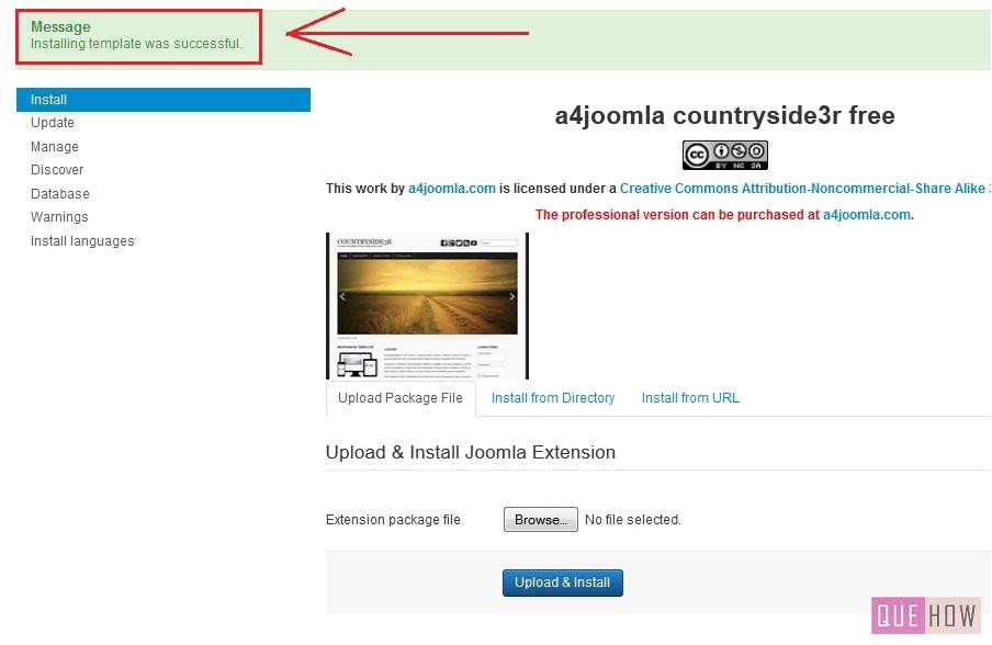 Installing A Joomla Template How to Install A New Template In Joomla 3 X 7 Steps with