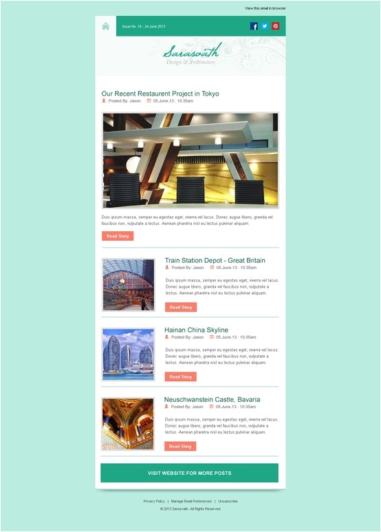 Interactive Newsletter Templates Interactive Newsletter Templates 96 Best Newsletters