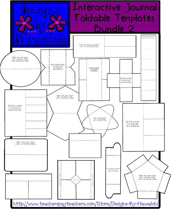 interactive notebook foldable templates