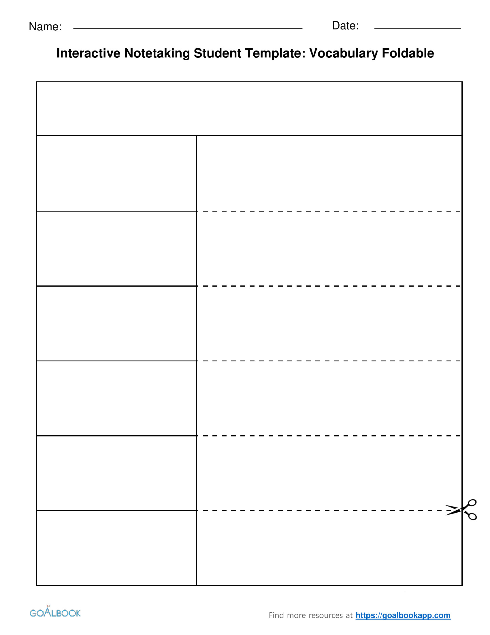 Interactive Notes Template Interactive Notetaking Udl Strategies