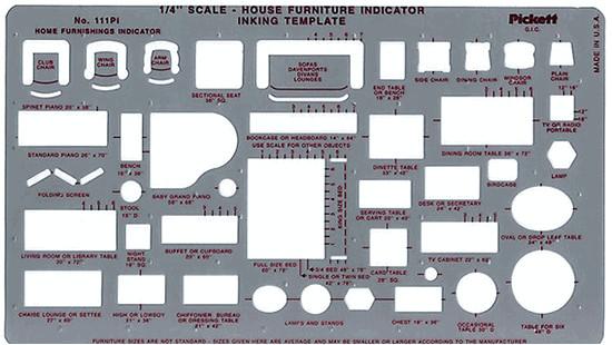Interior Design Drafting Templates Pickett 111pi House Furniture Interior Design Drafting