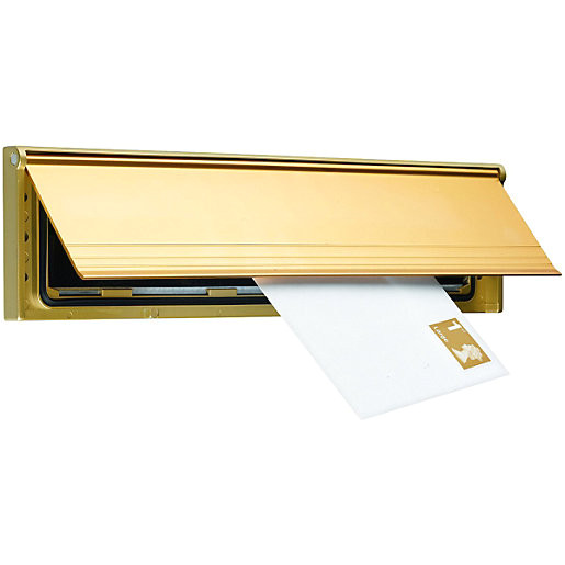 Interior Letter Box Cover Wickes Internal Letter Box Draught Excluder with Flap Gold