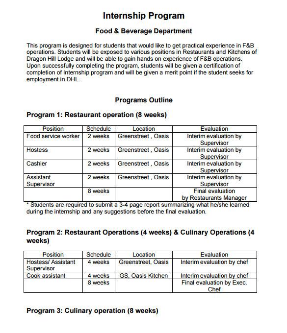 program outline template