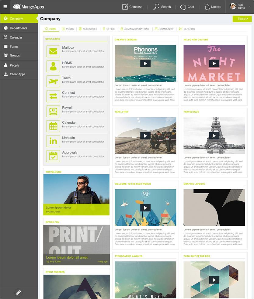 intranet portal design templates