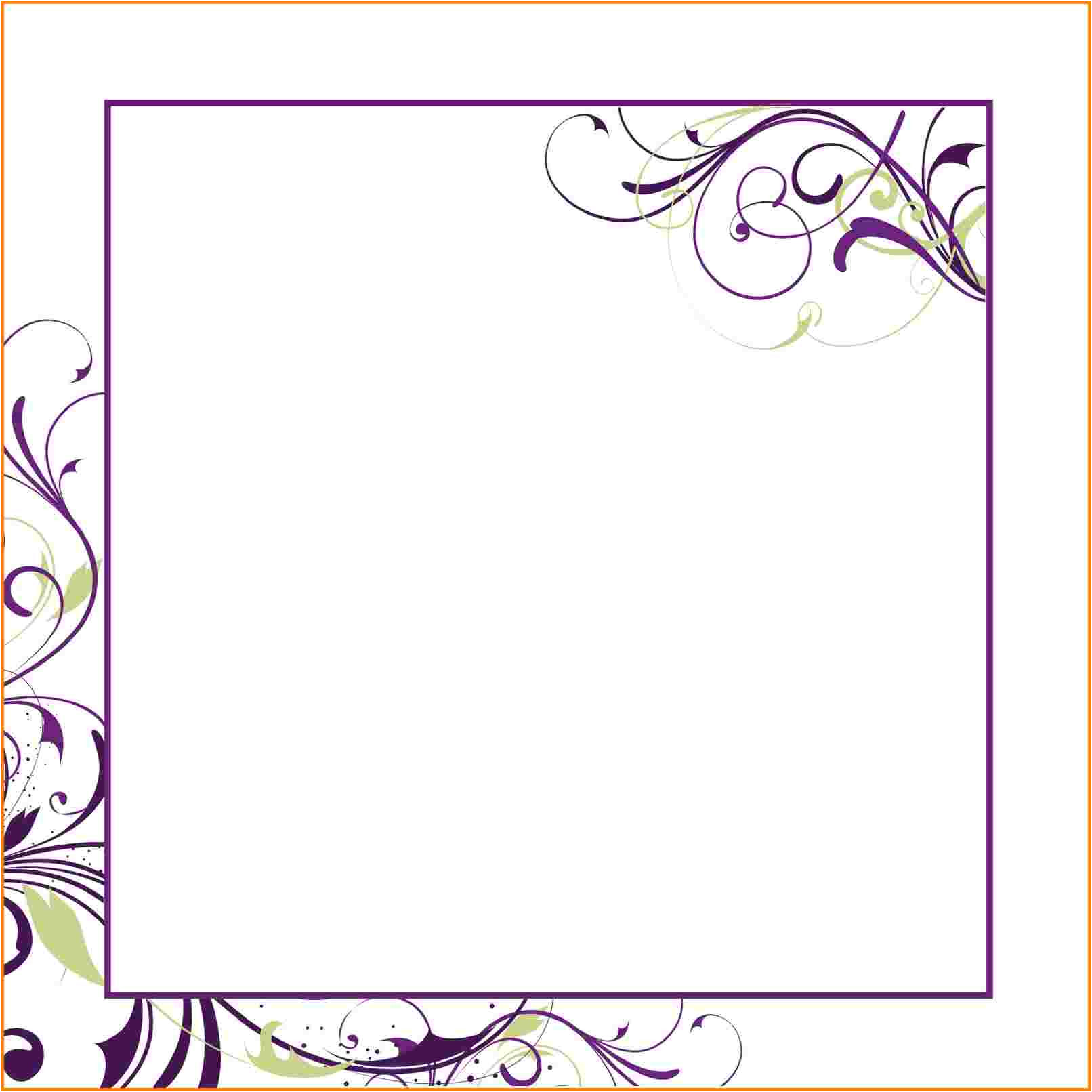 blank invitation template for word