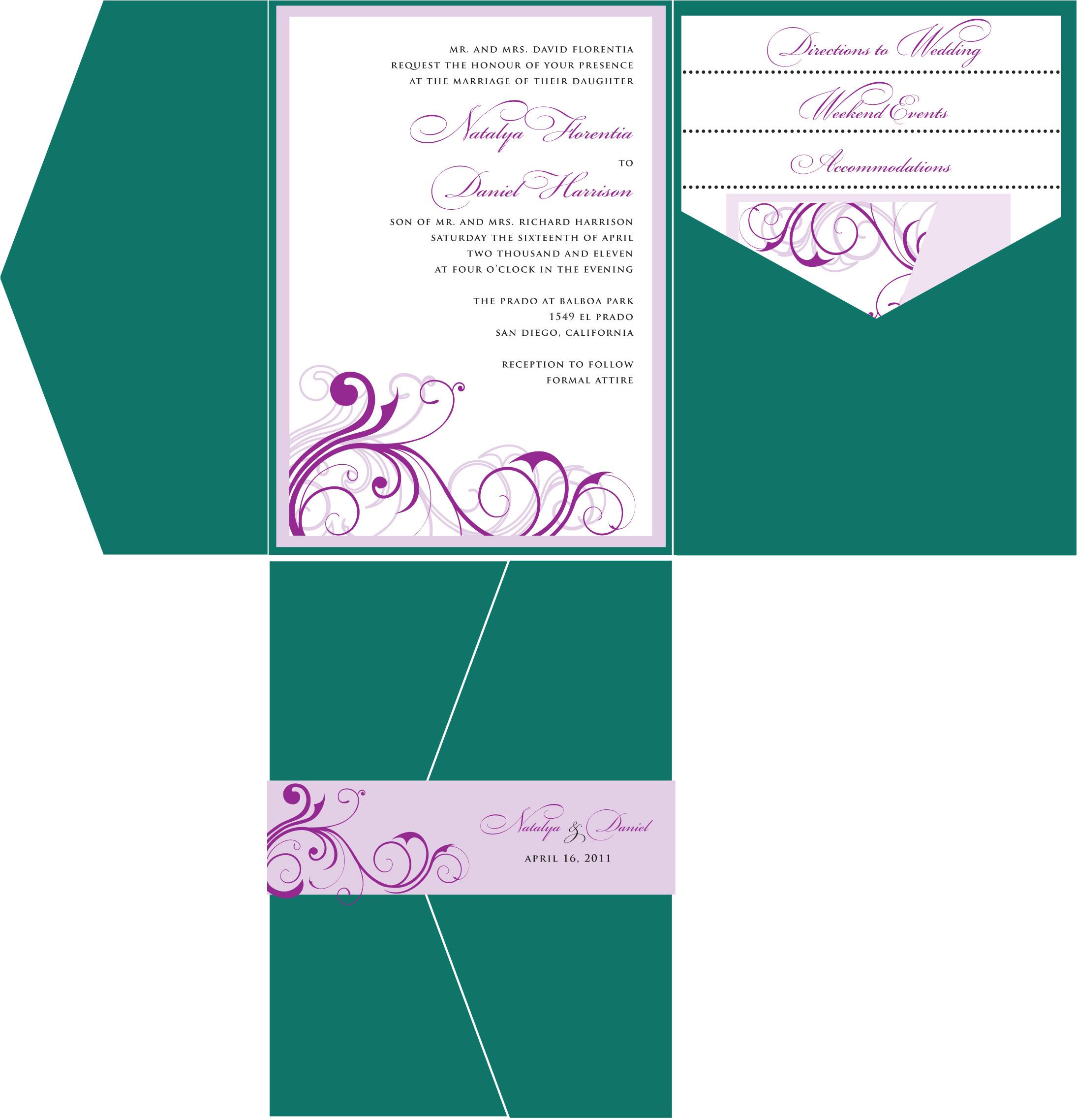 wedding invitation templates canada