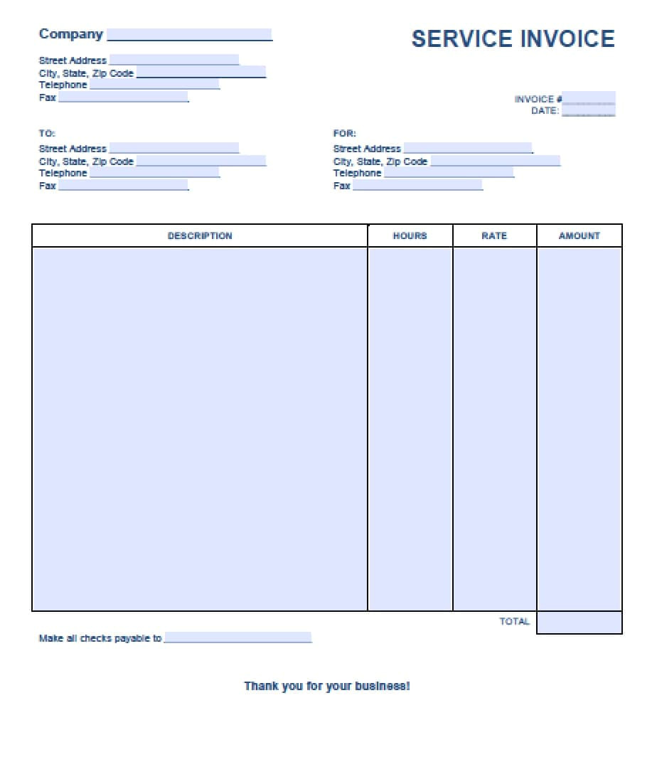 free invoice template for word