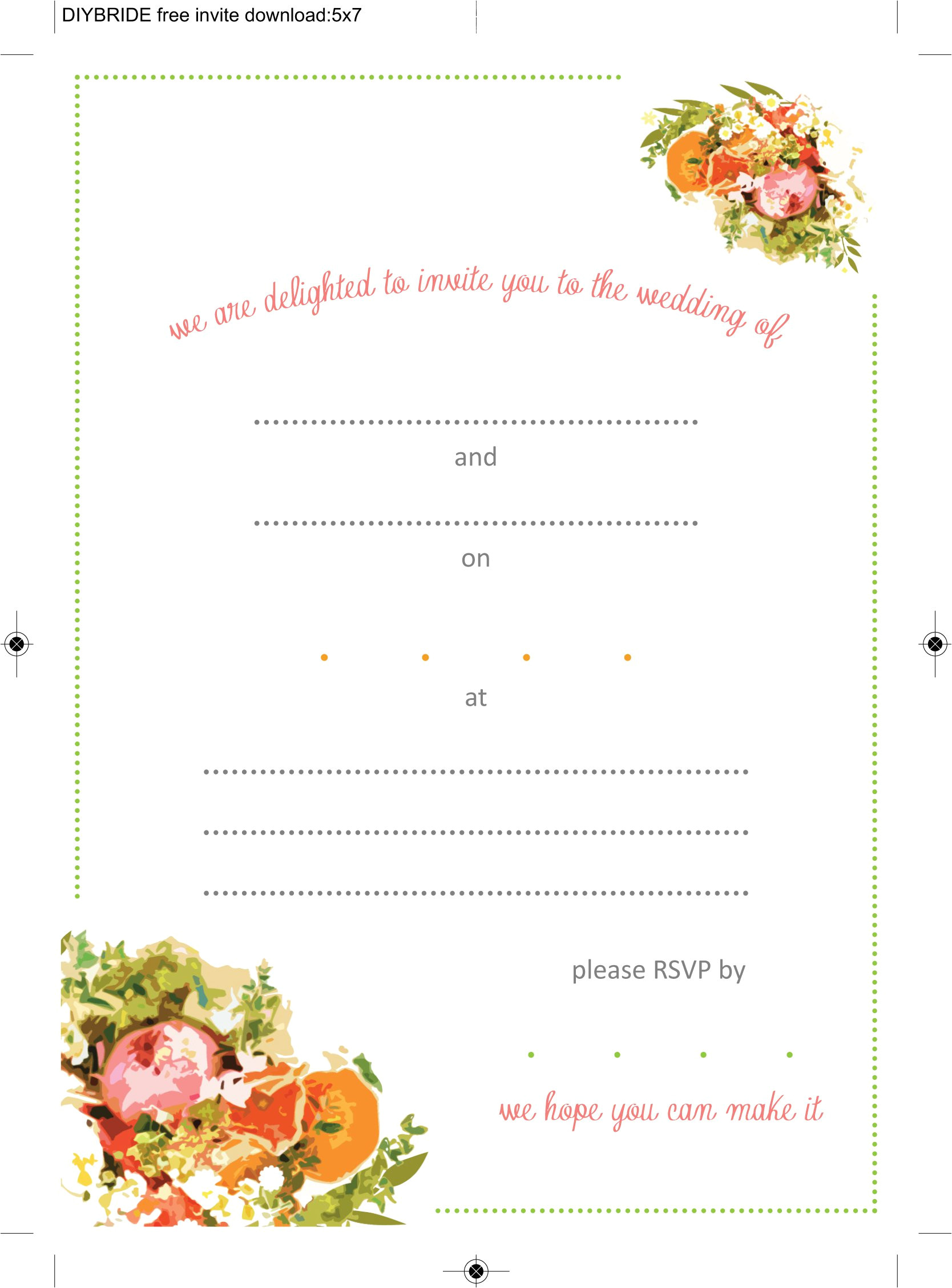 Invitiation Template Wedding Invitation Templates that are Cute and Easy to