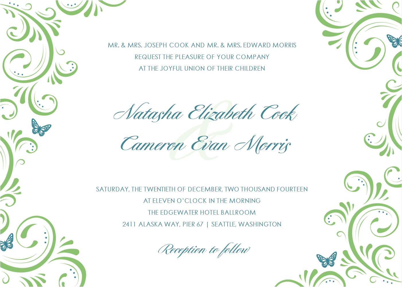wedding invitations cards template