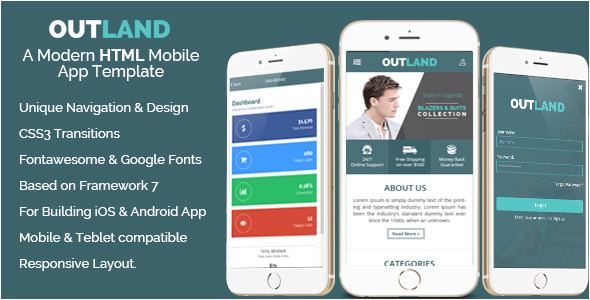 Ios App Code Templates Outland Ios android Mobile App Template by Hastech