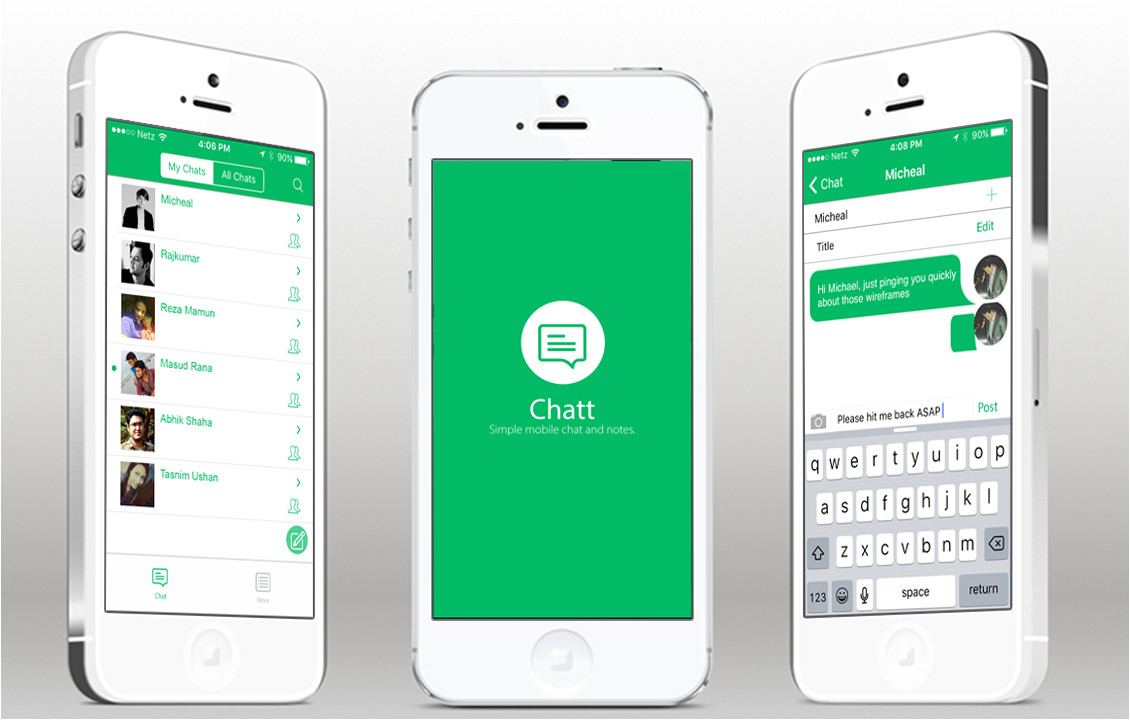 chatt ios full app template with layer backend