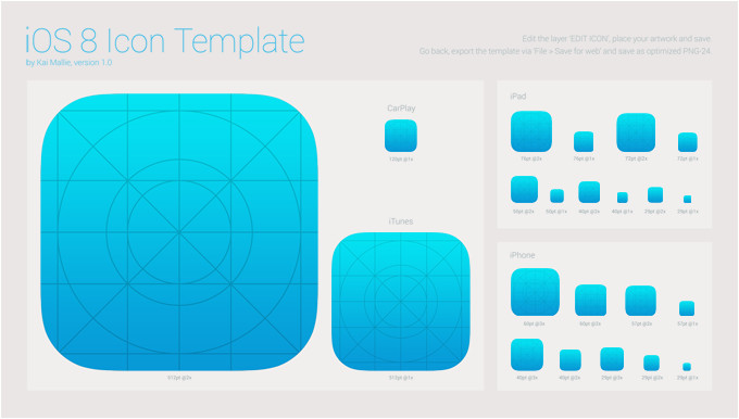 5 19 ios 8 icon template
