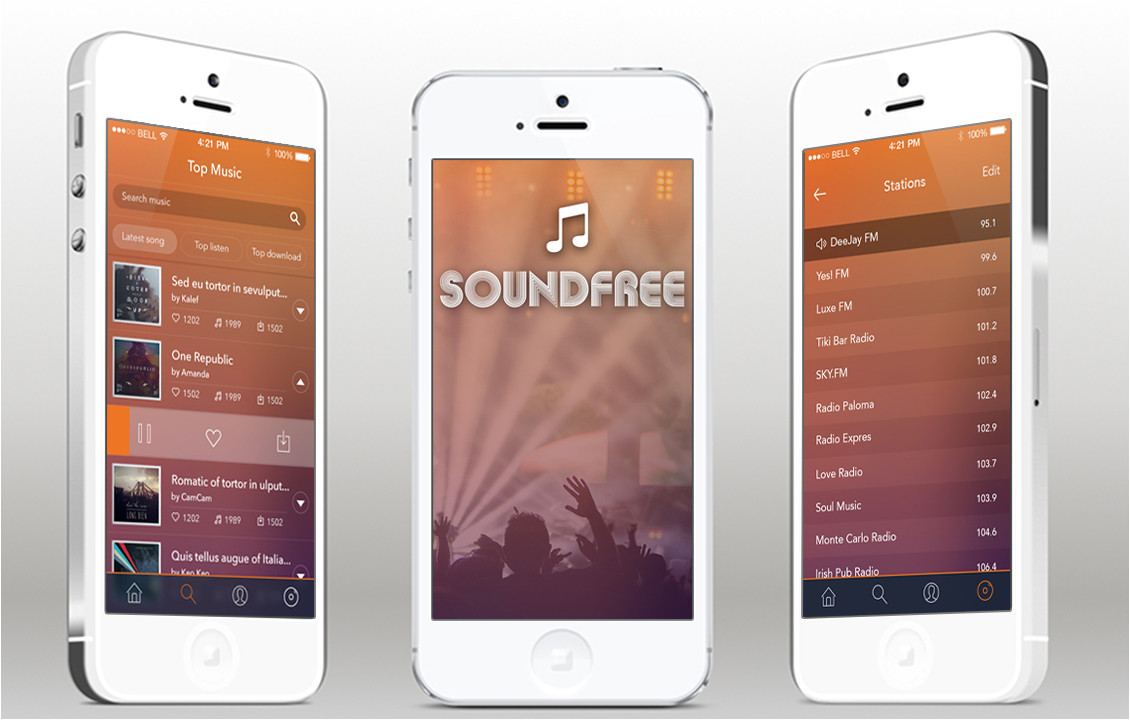 soundfree radio ios app template