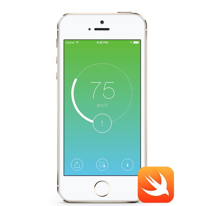 speedometer speed tracking ios app template