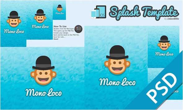Ios Splash Screen Template Psd Best Free Splash Mobile Screen Design Psd Designmaz