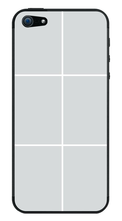 iphone 5 case template actual size