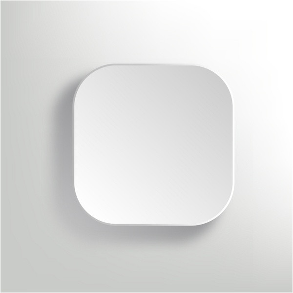 vector white blank button app icon template 312429