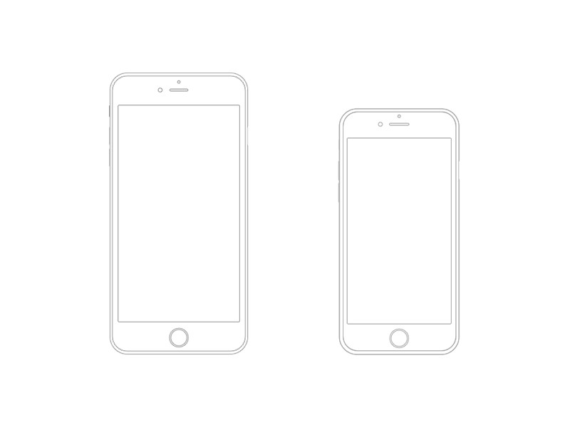 iphone wireframe template illustrator