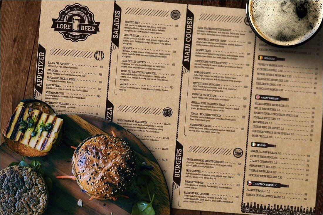 30 food drink menu templates