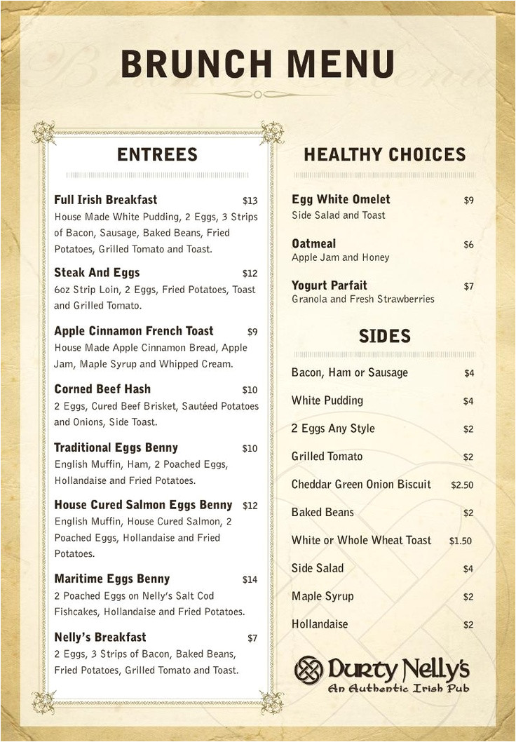 Irish Menu Templates Guess who Has A New Brunch Menu that Would Be Halifax 39 S