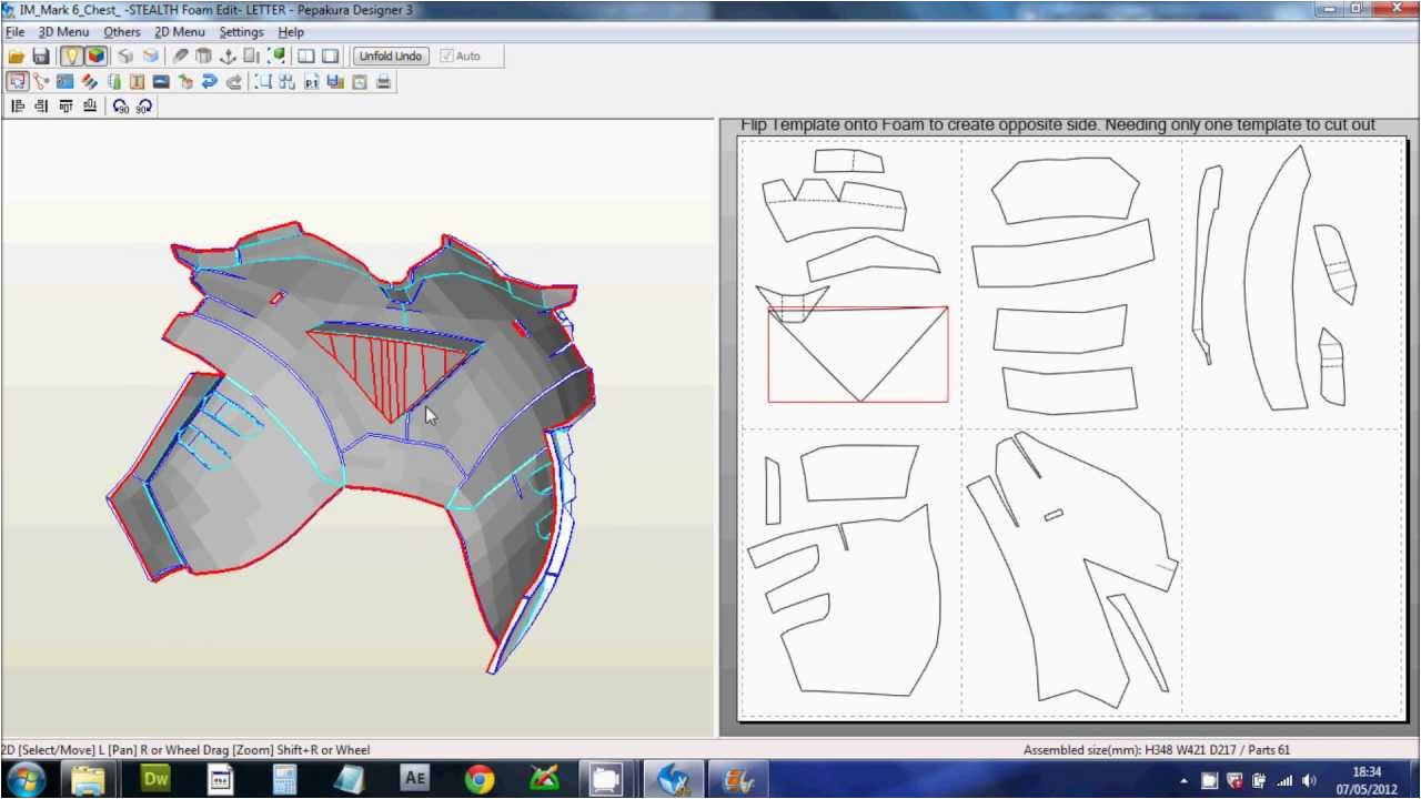 Iron Man Suit Template 1 Downloading Scaling Printing Files Foam Pepakura