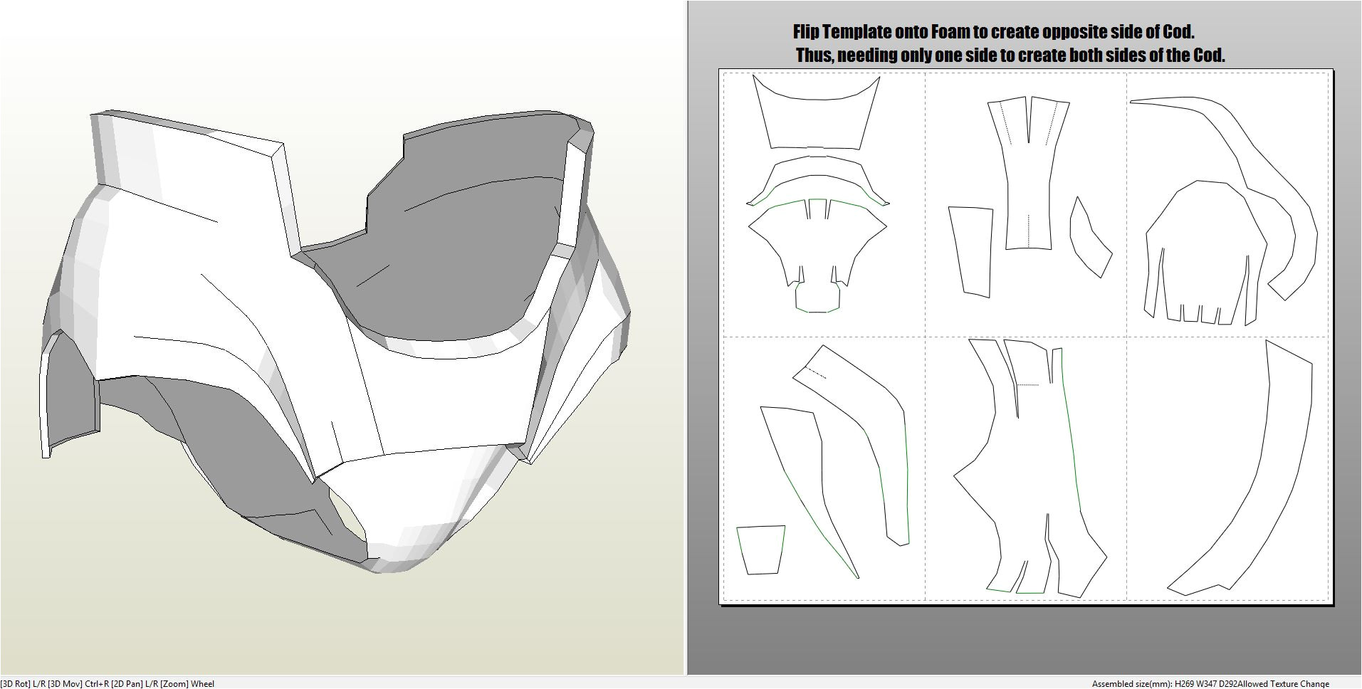 Iron Man Suit Template Foamcraft Pdo File Template for Iron Man Mark 4 6