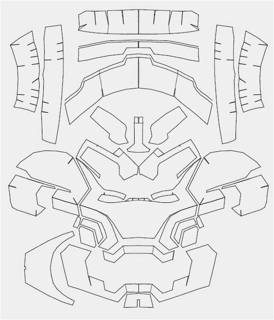 Iron Man Suit Template Iron Man Mark 42 Costume Helmet Diy Cardboard Build with
