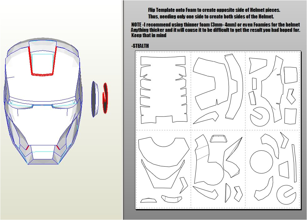 Iron Man Suit Template Making An Iron Man Helmet and Armor
