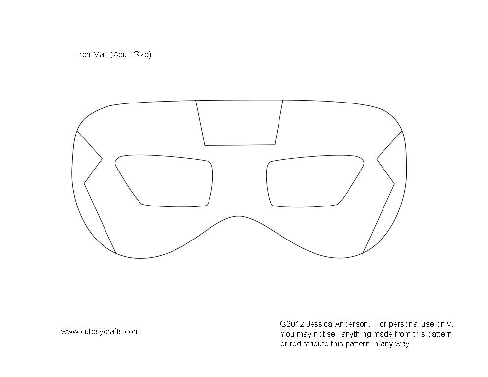 post iron man mask printable template 218596