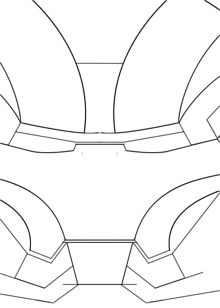 iron man helmet template