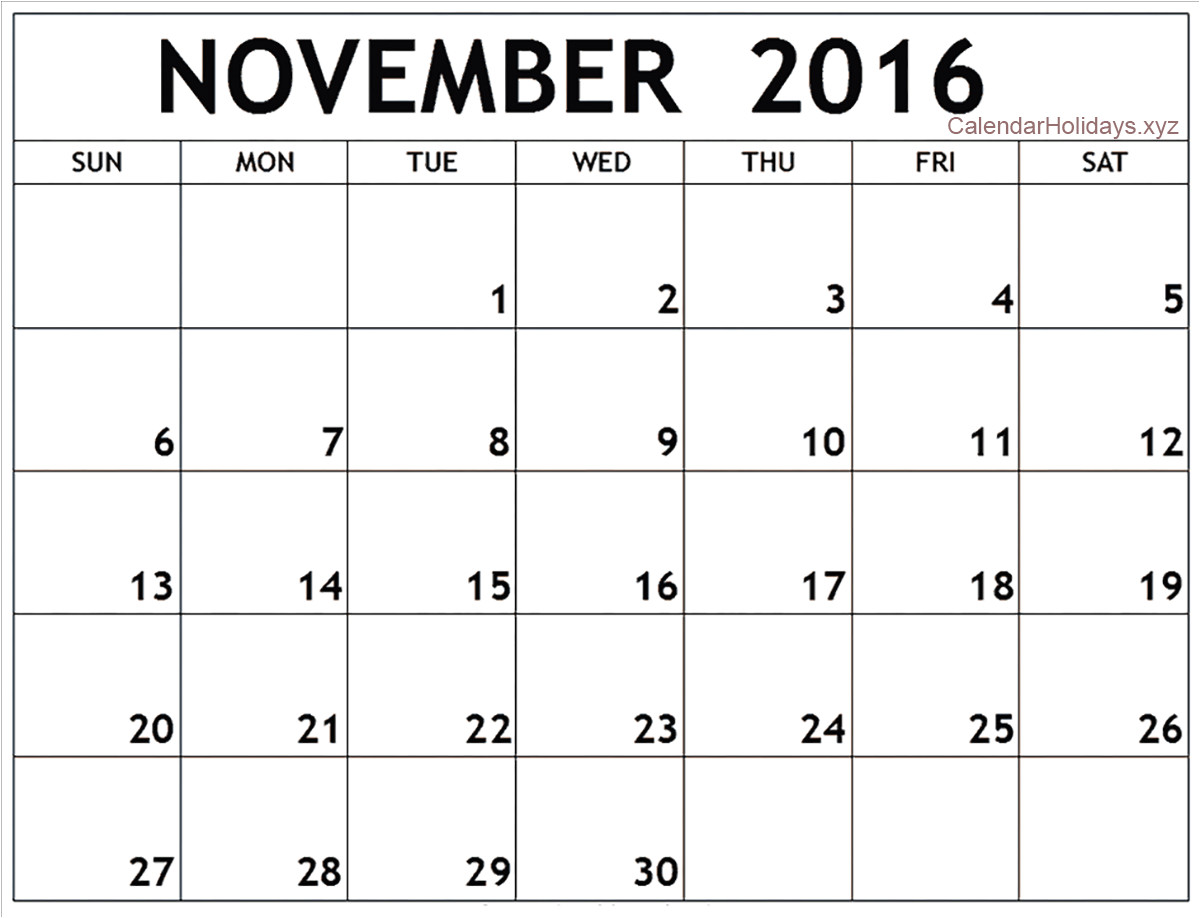 Is there A Calendar Template In Word November 2016 Word Calendar Wordcalendar Calendartemplates