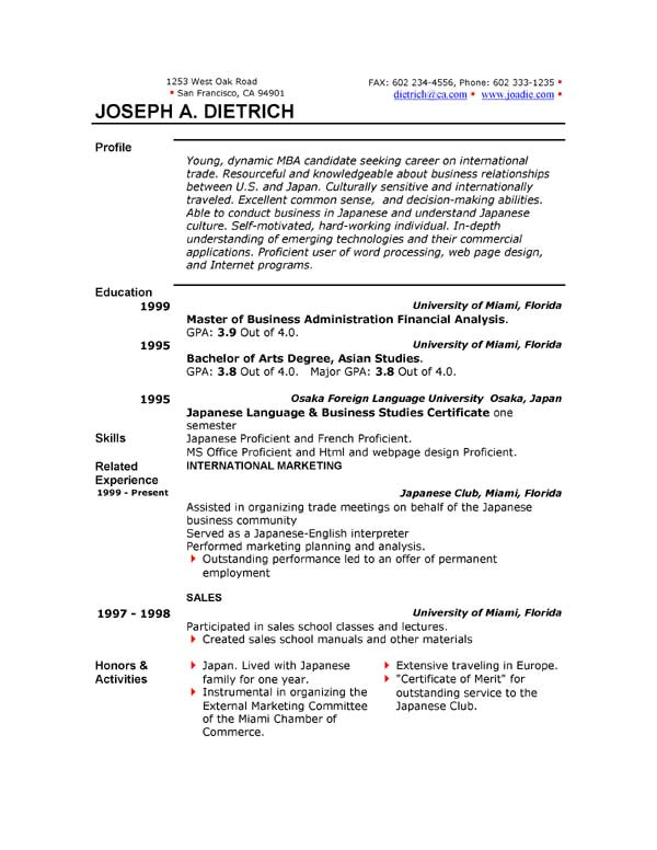 Is there A Resume Template In Microsoft Word 2010 How to Write A Resume On Microsoft Word 2010