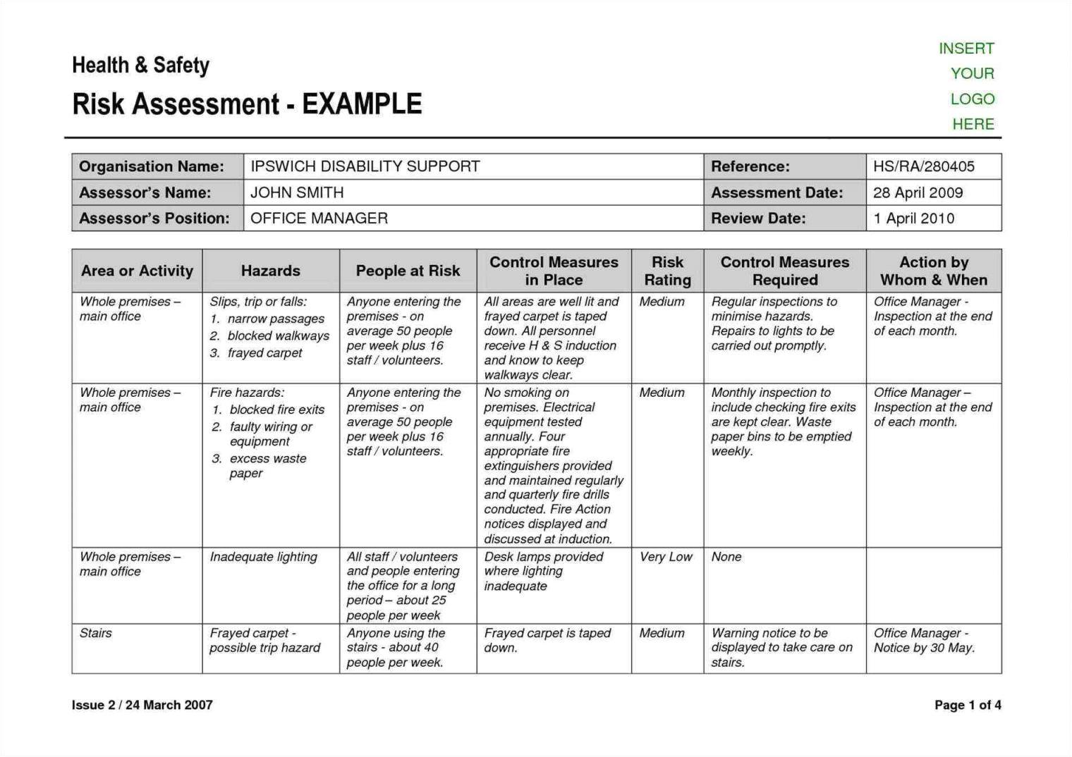 iso 27001 risk assessment template4