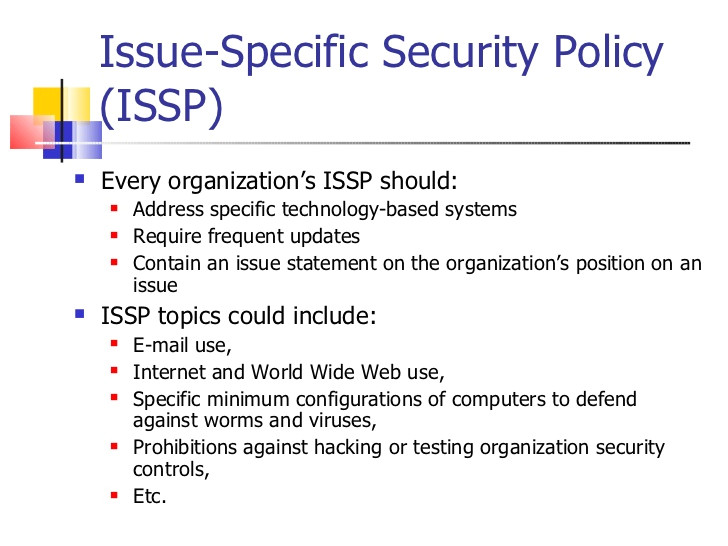 information security policy2011