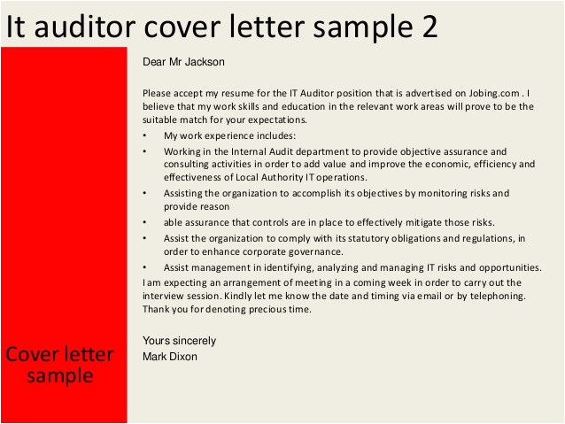 it auditor cover letter 31973675