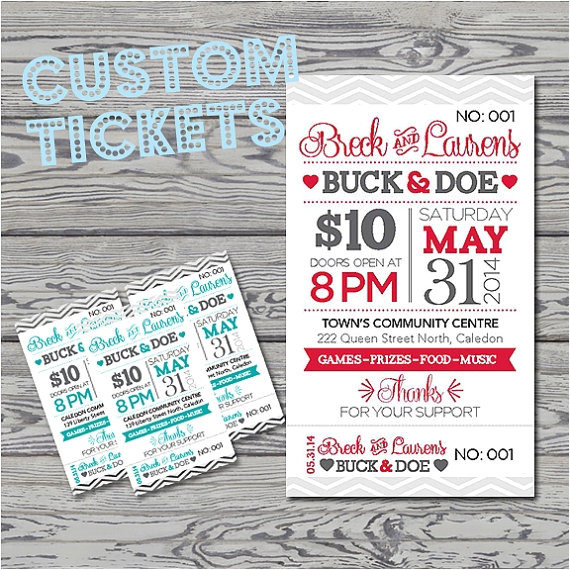 stag and doe tickets template
