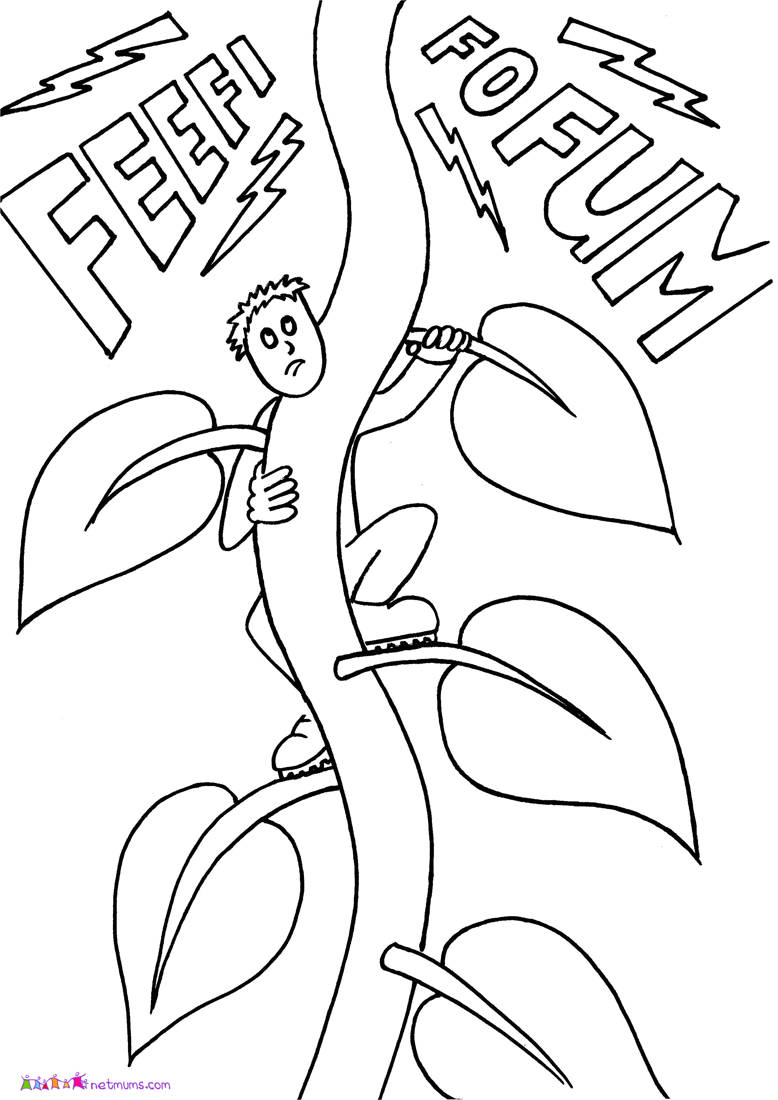 jack and the beanstalk coloring pages