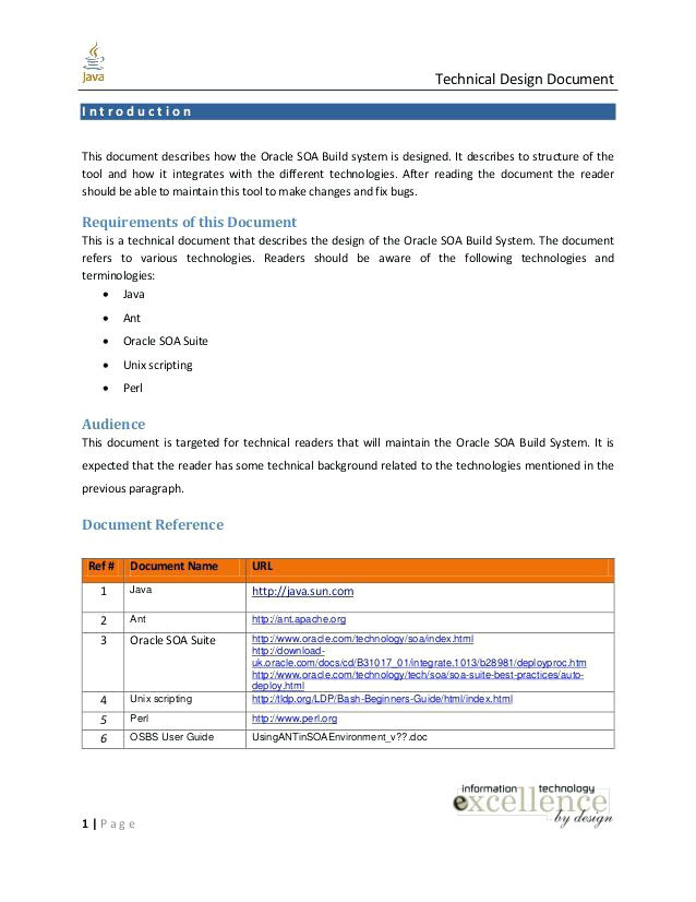 detailed design document template doc