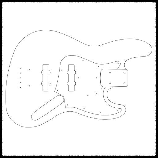 jazz bass guitar routing templates