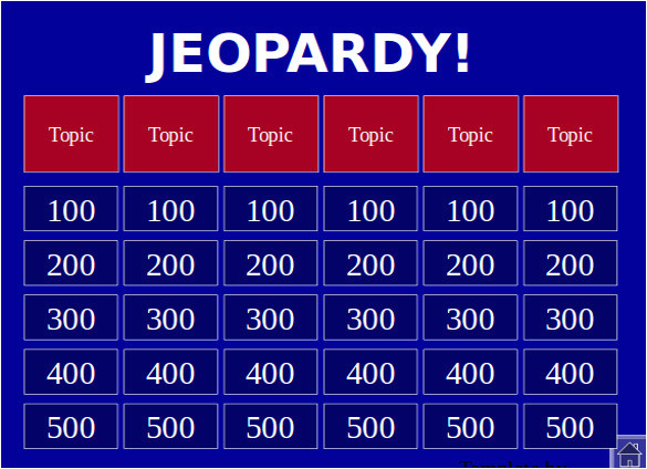 sample jeopardy powerpoint