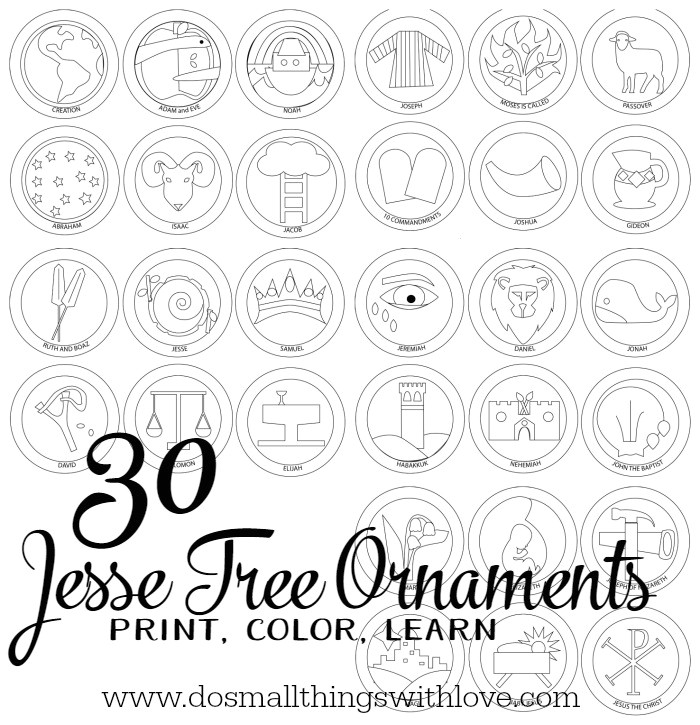jesse tree ornaments to print and color