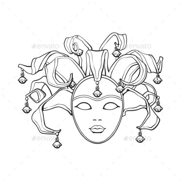 women venetian mask template