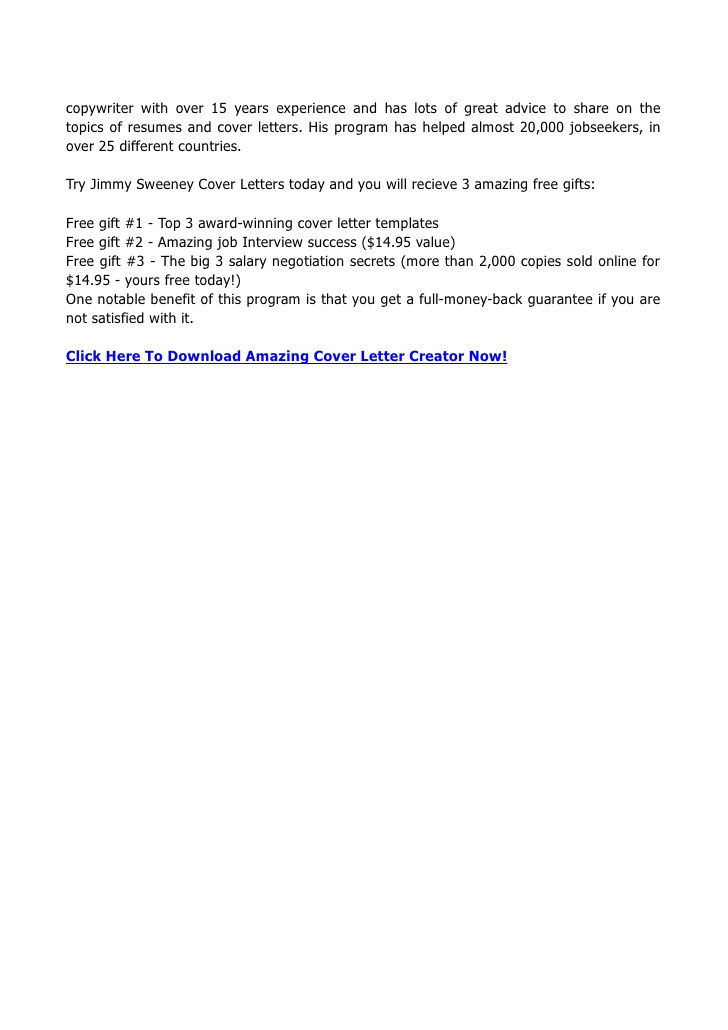 jimmy sweeney cover letters 12727477