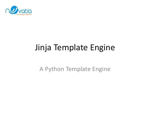 Jinja Templates Jinja Template Engine