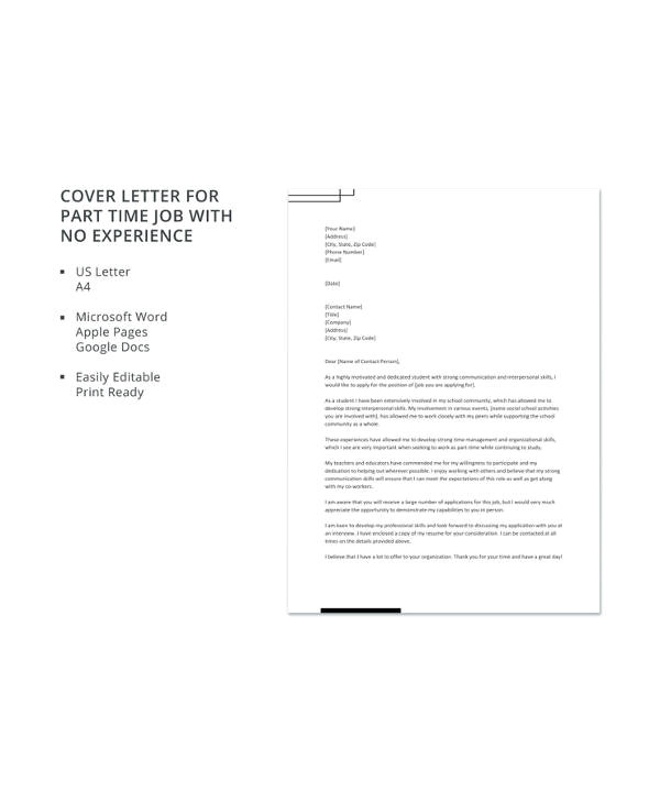 Jobs Ac Uk Cover Letter 11 Part Time Job Cover Letter Templates Free Sample