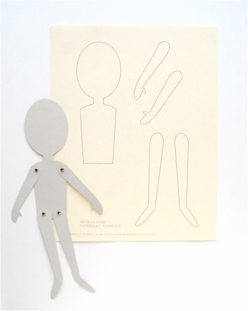 Jointed Paper Doll Template Diy Articulated Paper Dolls Handmade Charlotte