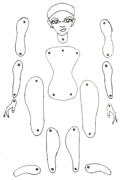 Jointed Paper Doll Template Jointed Paper Doll Ballerina Design Art Journal Pinterest