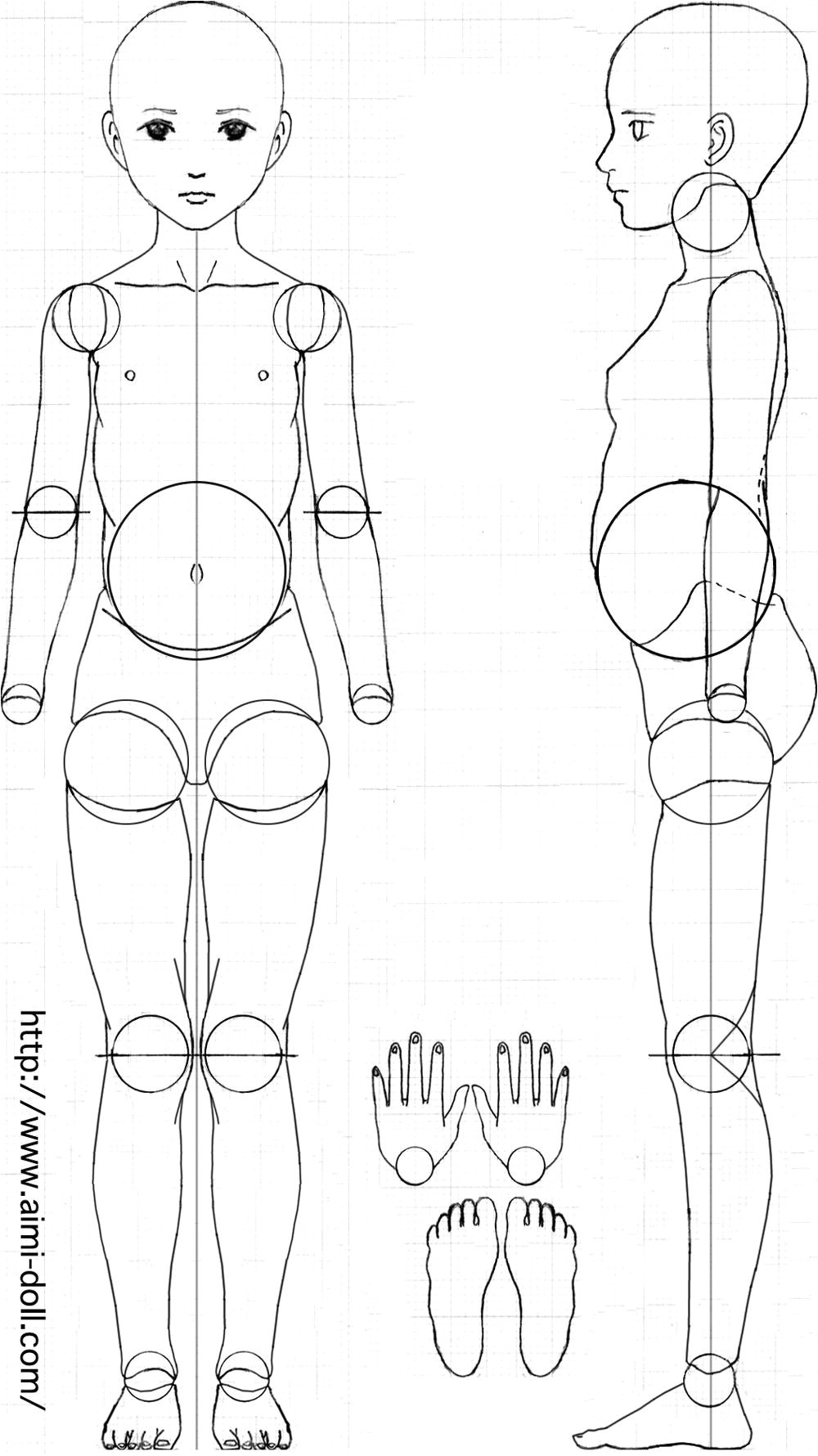 Jointed Paper Doll Template Porcelain Ball Jointed Dolls Ball Jointed Dolls