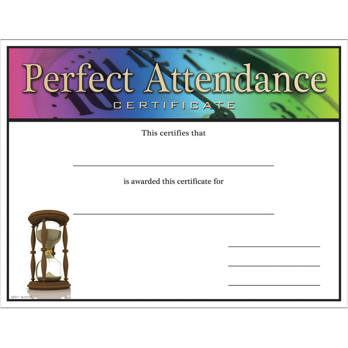 100 attendance certificates printable