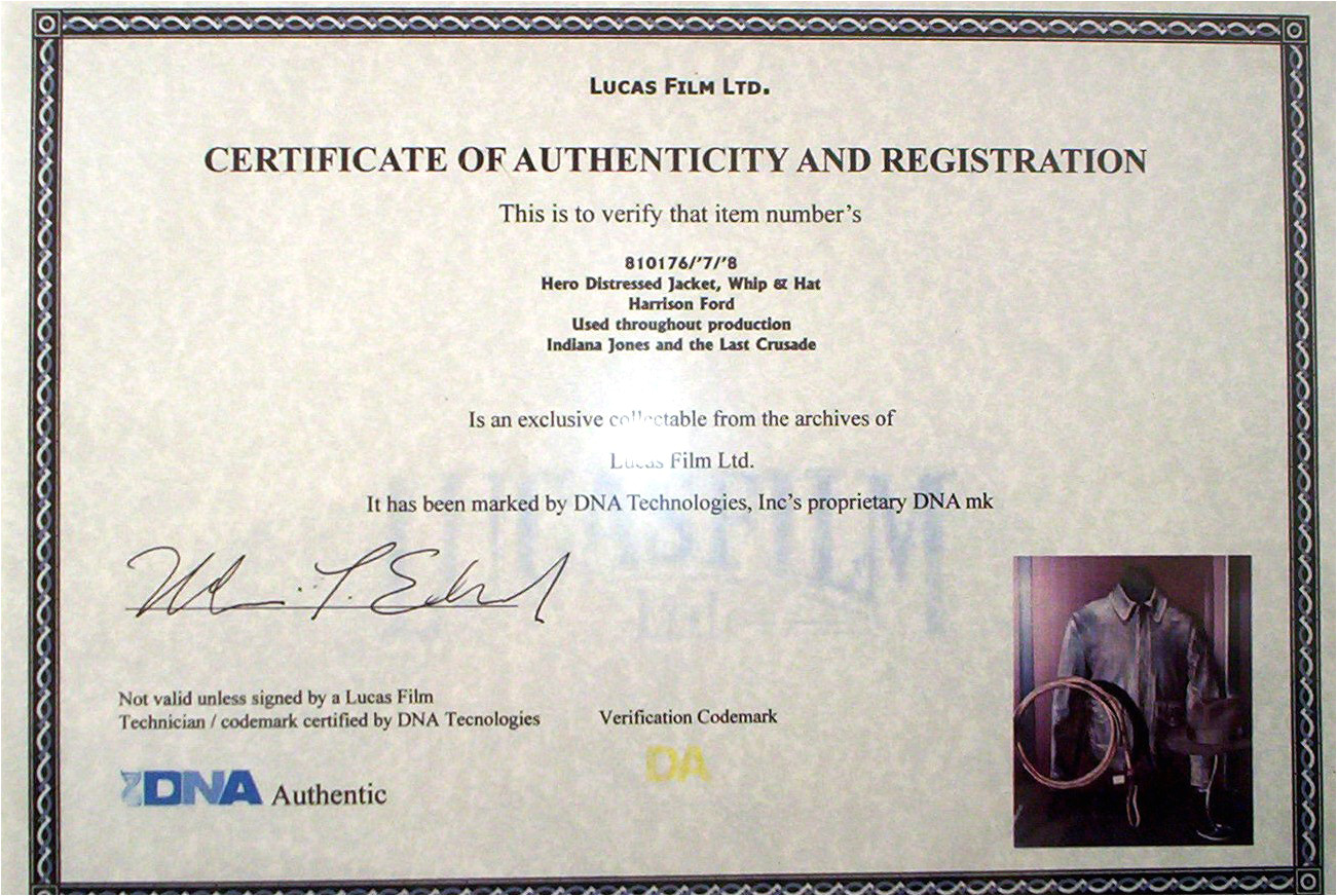 certificate of authenticity wording 2686